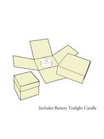Tealight Candle Box Card MoonGlow