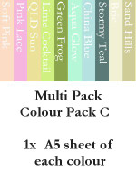 A5 Cardstock - Colour Pack C