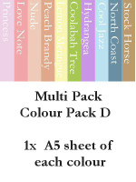 A5 Cardstock - Colour Pack D