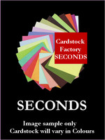 30 Sheets Approx Seconds Cardstock