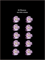 41150 Medium Blossoms Lavender