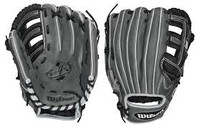 "Wilson 6-4-3 Series Grey/Black Infield 11.75"" Glove (right handed thrower only)"