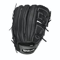 "Wilson 6-4-3 Series Black/Grey Pitcher's 12"" Glove (right hand thrower only)"