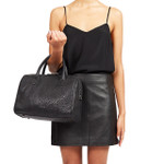 HUDSON BUBBLE LAMBSKIN MINI DUFFLE BAG