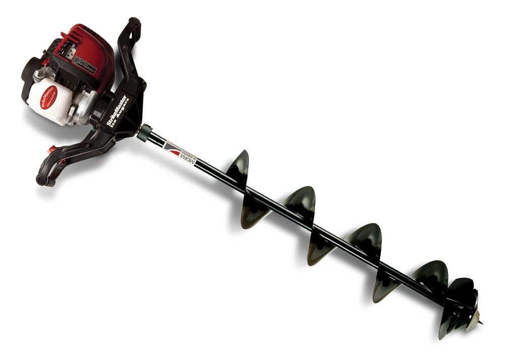 Strikemaster honda lite ice auger 8 from for Ice fishing battery box