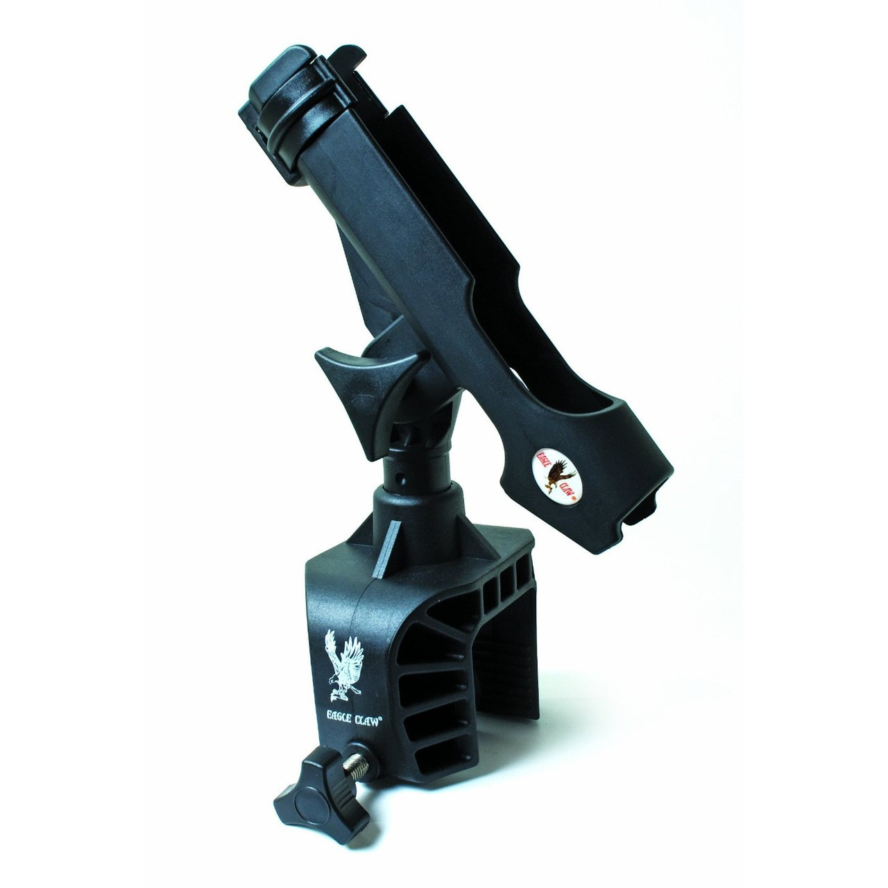 Eagle claw deluxe clamp on fishing rod holder for Fishing rod holders