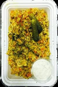 Mediterranean Chicken Rice Pilaf