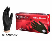 Black Nitrile BX3 Gloves - 100 Per Box