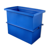 EasiWay - PT-598 Polyethylene Dip Tank (84 Gallons)  Includes Tank Support Band and Screen Hold Down Rods. (Lid is extra)