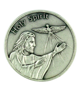 """""""Life is a Journey"""" Jesus Christ with Holy Spirit Dove Pocket Coin Token"""
