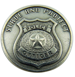 Serve and Protect Police Officer Pocket Token Coin with Serenity Prayer on Back