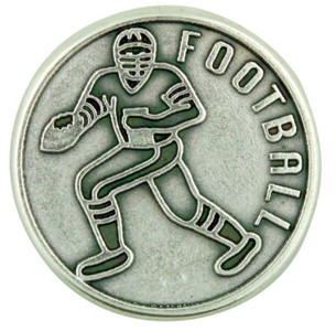 """With God All Things Are Possible"" Silver Plate Pocket Coin for Football Athlete"