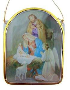 Adoration of Christ Nativity Christmas Ornament