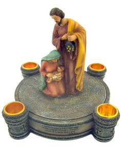 Nativity Advent Candle Holder with Candles