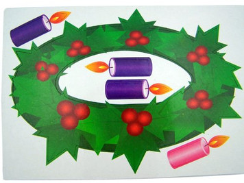 Christmas Advent Wreath Auto Magnet Set