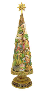 "Nativity of Christ 20"" Christmas Tree Statue"