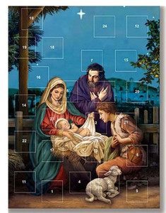 Pack of 12 - O Holy Night Nativity of Christ Christmas Advent Calendar