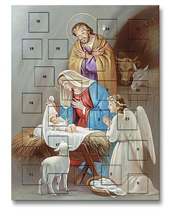 Adoration of Jesus Christ in Manger Advent Calendar