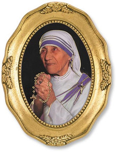 Gerffert Collection Catholic Prints in Gold Leaf Frame, 4 1/2 Inch - Saint Mother Teresa