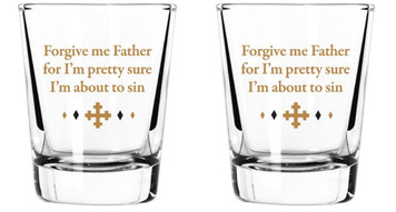 Gratitude Cocktail Shot Glasses, 2 oz, Pack of 2 - About to Sin