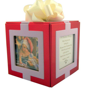 Baby's First Christmas Photo Album Keepsake Cube