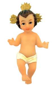 Infant Jesus Christ Child 3 1/2 Inch Resin Christmas Figurine with Story Card