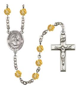 November Birthstone Prayer Bead Rosary with Virgen de la Merced Centerpiece, 19 Inch