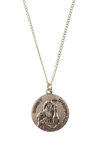 12kt Gold Filled Dime Size Saint Brendan Medal, 3/4 Inch
