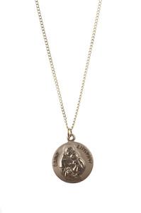 12kt Gold Filled Dime Size Saint Anthony Medal, 3/4 Inch