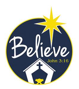 Believe John 3:16 Flexible Christmas Car Magnet, 5 7/8 Inch