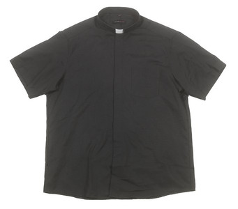 Liturgical Creations Mens Short Sleeve Single Pocket Clergy Shirt, 100% Cotton