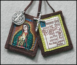 Our Lady of Guadalupe Brown Scapular with Medals