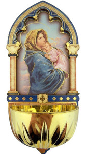 Madonna of the Streets Gold Embossed Laser Cut Wood Multi-Dimensional Water Font