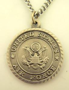 Pewter United States Air Force Saint Michael Military Medal, 1 Inch