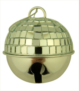 All is Calm Disco Ball Jingle Bell Christmas Ornament, 2 1/2 Inch