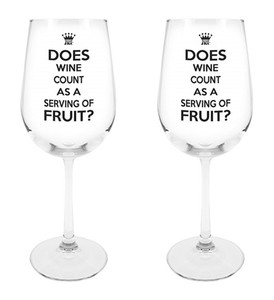 Do the Right Thing Wine Glass, 18 1/2 oz, Set of 2