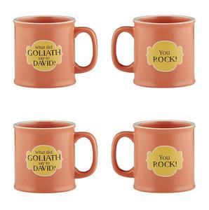 Old Testamugs You Rock Ceramic Coffee Mug, 15 oz, Set of 4
