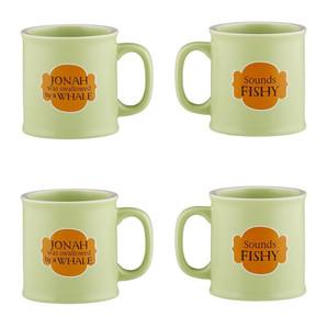Old Testamugs Sounds Fishy Ceramic Coffee Mug, 15 oz, Set of 4