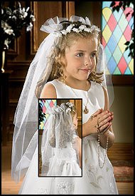 COMMUNION VEIL: ROSE BUD