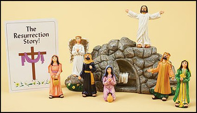 Religious easter gift eight 8 piece resin figurine resurrection image 1 negle Gallery