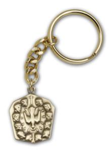 Antique Gold Apostles Keychain