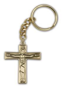 Antique Gold Cursillo Keychain