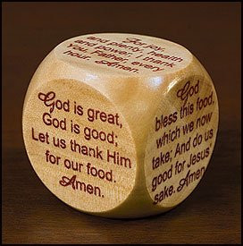 Mealtime Prayer Cube 12/Pk