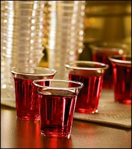 "Box of 1000 - 1 1/4"" Recyclable Stackable Hard Clear Plastic Disposable Clear Communion Cups"