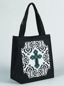 "Gothic Cross Design 10"" Nylon Tote Bag"
