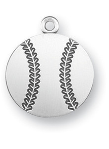 Sterling Silver Christ Baseball Athlete Medal