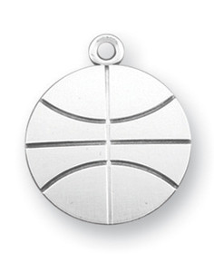 Sterling Silver Christ Basketball Athlete Medal