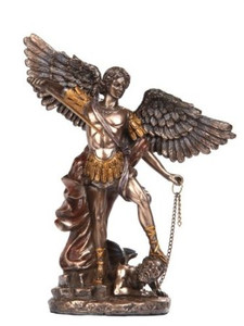 6 Inches Statue of Saint Archangel Michael San Arcangel St Estatua Angel Miguel Bronze