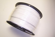 """WHITE Vinyl Coated Cable, 1/8""""-3/16"""", 7x7, 500 ft reel."""