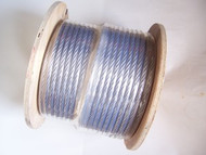 "Galvanized Cable, 3/8"", 7x19, 500 ft reel"